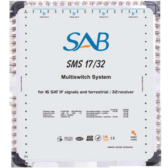 Multišalter 4 satelita na 32 utičnice
