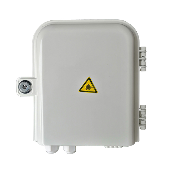 Fiber distribution box, 8 SC Sx adapters, 8 + 2 cable ports