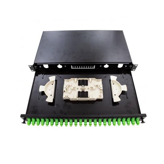 Patch panel 24 ports SX 1U, 1 SPL. 24 protectors
